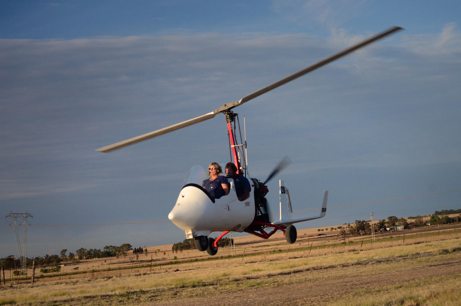 Gyrocopter pilot training
