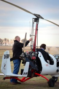 Gyrocopter pre-flight inspection